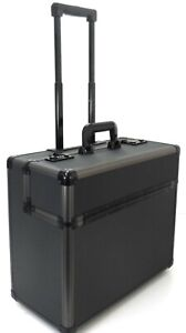 New Aluminium Wheeled Business Laptop Trolley Office Briefcase Luggage Cabin Bag