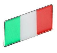 Aufkleber Italien Italy 3D Auf Kleber Schriftzug Flagge Metall selbstklebend