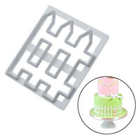 Fence Icing Cutter Fondant Mould Cake Decorating Cookie Mold Sugarcraft Tool DIY