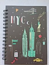 """New York City  Lined Spiral Hardcover Journal. 8.75 X 6"""""""