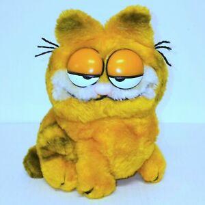 "Vintage Garfield Plush Sitting Daikin 1981 Stuffed Animal Cat Toy 9.5"" Lovey"