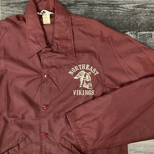 Vintage 1970s Northeast Vikings Swingster Made in USA Coach Jacket size Medium