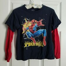The Amazing Spiderman Colorful Movie Promo Textured Graphics T-shirt Boys M