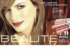 Publicité Advertising  0817  2006  les rouges à lèvres  shine Nivéa Beauté (2p)