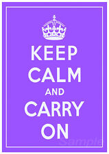 KC08 KEEP CALM AND CARRY ON A4 POSTER PRINT