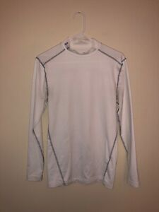 Under Armour Cold Gear Compression White Silver Large