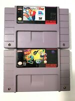 Earthworm Jim 1 & 2 SNES Super Nintendo Game Lot Tested + Working & Authentic!