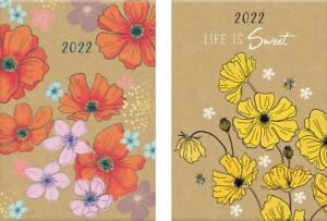 A5 2022 Diary Week To View Casebound Softback  Planner Organiser