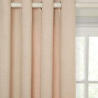 "JOHN LEWIS Barathea Lined Eyelet Top Curtains -NATURAL- 66""W x 54""D/167cmx137cm"