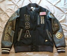 Nike USA Olympic Dream Team 20th Anniversary Destroyer Jacket Sz Large Leather