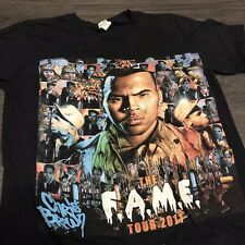 Chris Brown 2011 Fame Tour T-Shirt Men's M T-Pain Tyga Hip Hop RNB TEE