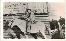 Postcard AR 1958 Pine Ridge Grand Pappy Spears Chief Of Police On Horseback