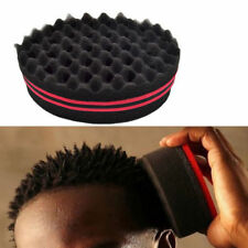 Double Sided Black Barber Hair Brush Sponge Dreads Locking Twists Afro Curl Wave