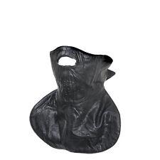 Black Leather Motorcycle Biker Face Mask Bandana Warm Neck Gator Fleece Lined
