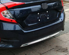 ABS Chrome Lower Rear Bumper Moulding Cover Trim For 2016-2017 Honda Civic Sedan