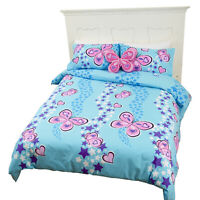 Butterfly Ballet 3 Piece DOUBLE bed Quilt Cover Set by Lipstick | Love Hearts