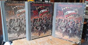 3 Bde. Illustrierte Geschichte des Weltkrieges 1914-1917 3 Bände + Beilagen