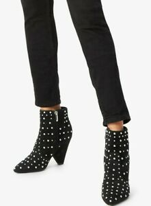 Sam Edelman Ladies Black Suede Ankle Boot.  Stud Detailing Occasion UK10.5 BNWB
