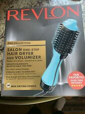 Revlon PRO Collection Salon One Step Hair Dryer and Volumizer Teal /Open Box