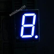 "10pcs 0.8 inch 1 digit led display 7 seg segment Common cathode 阴 blue 0.8"""