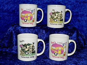 Stoneware caravan mug Choose Mum, Dad or My caravan mug our own design