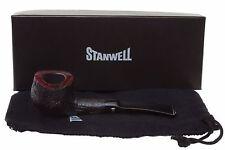 Stanwell Featherweight 242 Black Tobacco Pipe - Sandblast
