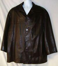 Men's Brown Leather Jacket Size Large