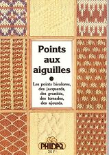 LIVRE PHILDAR N°2 POINTS aux aiguilles TRICOT jacquard