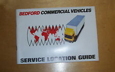 BEDFORD COMMERCIAL VEHICLES SERVICE LOCATION GUIDE. JAN 1983 U.K. &  EUR0PE