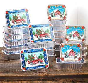 Set of 24 Holiday Treat Containers for Christmas Goodies Candy Cookies Fudge