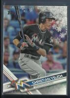 Christian Yelich 2017 Topps Holiday Snowflake METALLIC Card HMW22  Brewers MLB