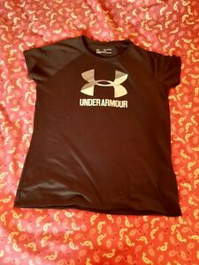Boys Black Under Armour Sports Top/t-shirt 13-14 Years YXL