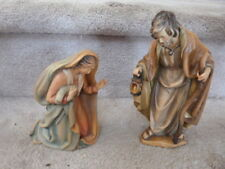 "Outstanding! Anri Bernardi Mary and Joseph - Carved Wood 8"" Nativity Set"