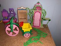 Vintage 80's Strawberry Shortcake Doll Berry Kitchen Tricycle Bicycle Furniture