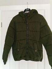 "Polo Ralph Lauren Hooded Padded / Puffa Jacket ( M 44"" Chest )Olive Khaki Green."