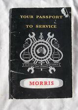 BMC Australia Passport to Service Owner Manual Handbook Wolseley Morris Austin