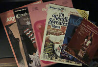 Lot Of 6 Knit & Crochet Pattern Leaflets & Magazines- Afghan, Christmas Stocking