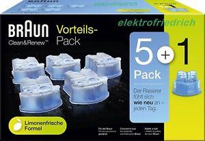 BRAUN CCR5+1 Reinigungskartuschen NEU&OVP Clean&Charge Clean&Renew (= 6 CCR )