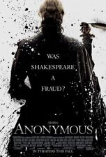 ANONYMOUS 27X41 AUTHENTIC DOUBLE SIDED OFFICIAL THEATRE POSTER