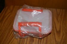 Vintage Tupperware Pack n Carry Red Lunch Box Complete Set (11-Piece)