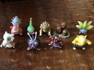 "Pokemon Figures TOMY Lot of 9 Authentic CGTSJ #""s Cubone, Sandslah & more"