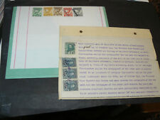 2 Newfoundland Inland Revenues Documents with Inland Rev. Stamps