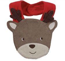 Christmas Reindeer Terry Teething Bib Boy Girl Unisex Carters One Size Soft