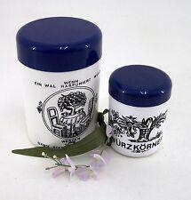 Vorratsdosen Set DDR Blumenmuster weiß & blau 2 Stck Kunststoff groß & klein