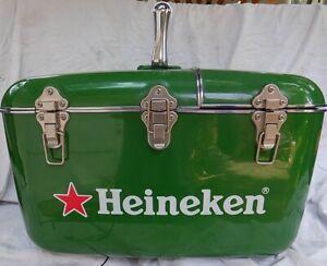 Heineken Coolbox Hard Case Beer Cooler, Portable Radio/CD Player w/ Power Cords