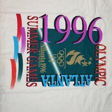 New listing Vintage Atlanta 1996 Olympics Shirt Medium Big Print Single Stitch made in Usa T