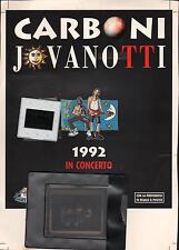 JOVANOTTI  LUCA CARBONI - SET PROMO BMG FOTO + DIAPOSITIVA + NEGATIVO  TOUR 92
