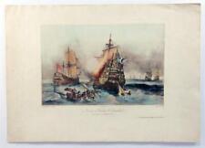 Vintage DURAND BRAGER Figures par Bayot Nautical 1844 Hand Color Lithograph Z235