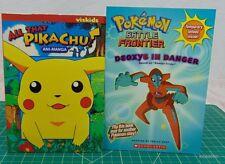 Pokemon Book Lot of 2 All That Pikachu Ani-Manga Pokemon Battle Frontier 2 St...