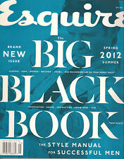 NEW! ESQUIRE The BIG BLACK BOOK Spring 2012 Summer Style Manual MEN's Fashion